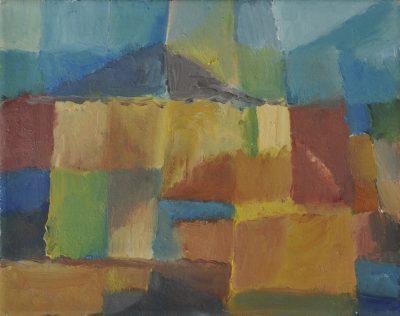 Sommerhaus, 20 x 25 cm, Öl auf Molino, 2005