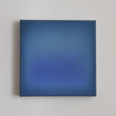 blue and turquoise, 30 x 30 cm, Öl auf Leinwand, IV 2017