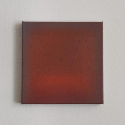 o.T. (brown and vermilion), 30 x 30 cm, Öl auf Leinwand, IV 2017