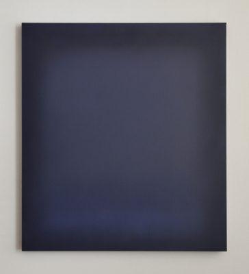o.T. (dark blues), 100 x 90 cm, Öl auf Leinwand, 2017