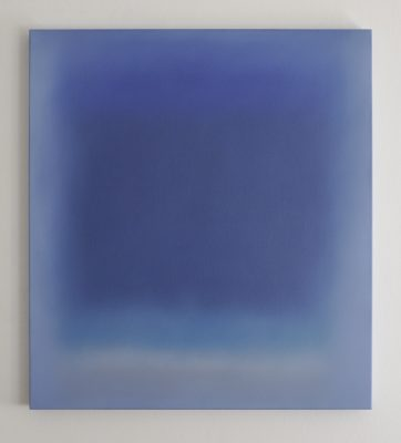 o.T. (blue and turquoise), 100 x 90 cm, Öl auf Leinwand, 2017