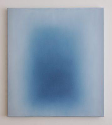 middle deep blue, 100 x 90 cm, Öl auf Leinwand, XII 2017