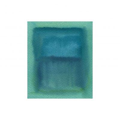 o. T., Aquarell auf Papier, 9,6 x 8,2 cm, 2017