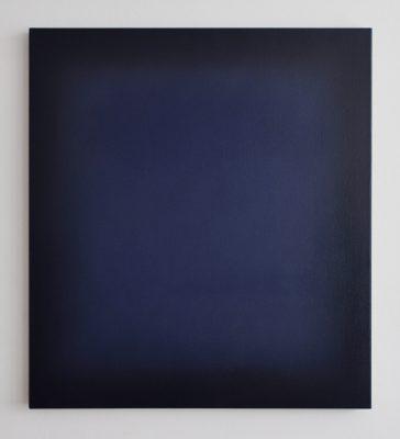 indigo and indanthrenblue, 100 x 90 cm, Öl auf Leinwand, X 2017