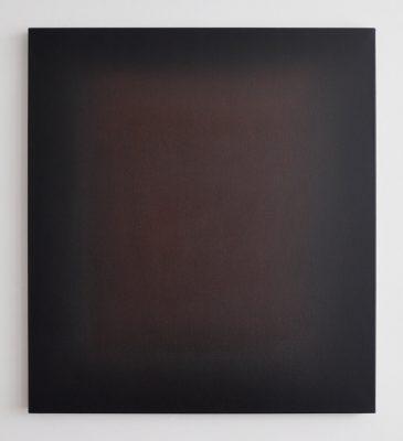 middle deep crimson and brown, 100 x 90 cm, Öl auf Leinwand, XI 2017