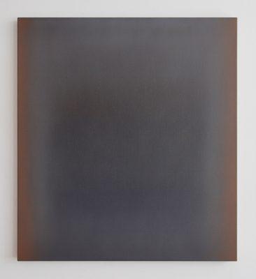 o.T. (brown and grey), 100 x 90 cm, Öl auf Leinwand, XII 2017