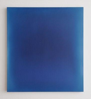 deep blues, 100 x 90 cm, Öl auf Leinwand, I-2018