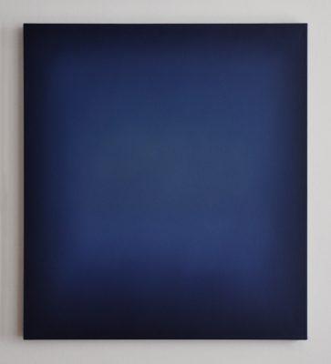 middle bright blue, 100 x 90 cm, Öl auf Leinwand, I-2018