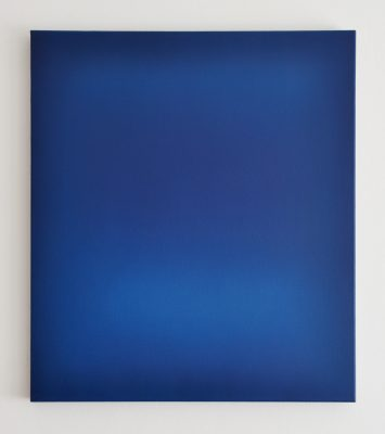 blue, 80 x 70 cm, Öl auf Leinwand, III-2018