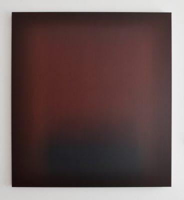 crimson and umber, 110 x 100 cm, Öl auf Leinwand, IV-2018