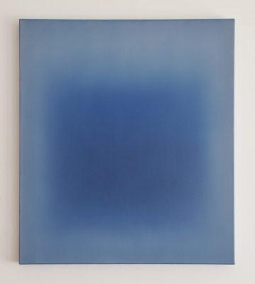 middle deep blue, 80 x 70 cm, Öl auf Leinwand, III-2018