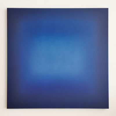blue square, 100 x 100 cm, Öl auf Leinwand, V-2018