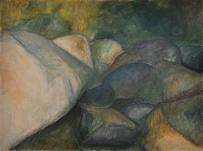 Aisttal, Eitempera auf Leinwand, 45 x 60 cm, 1999
