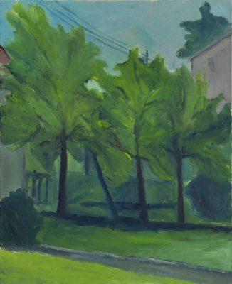 Garten am Auberg, 55 x 45 cm, Öl auf Leinwand, 2007