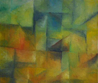 Gelbe Landschaft, 60 x 70 cm, Öl auf Leinwand, 2008