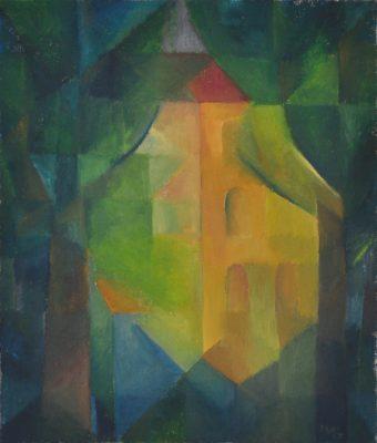 Gelbes Haus, 70 x 60 cm, Öl auf Leinwand, 2007
