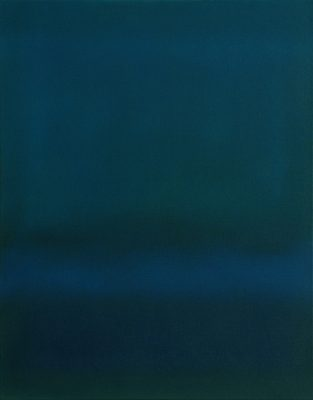 green and blue, 70 x 60 cm, Öl auf Leinwand, 2014