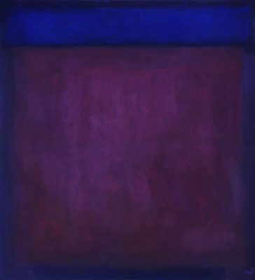 purple and blue, 110 x 100 cm, Öl auf Leinwand, 2009