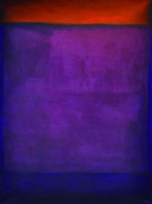 ot, (purple and orange), 120x90 cm, Öl auf Leinwand, 2009