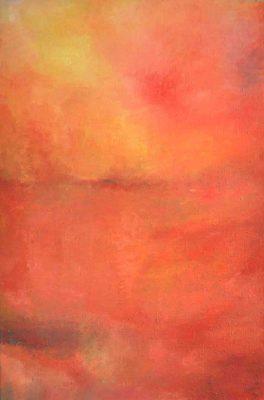 Sonnenuntergang, 110 x 80 cm, Öl auf Leinwand, 2009
