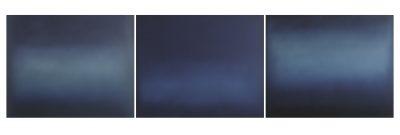 triptych in blue, je 80 x 100 cm, Öl auf Leinwand, 2016