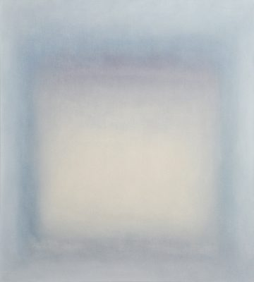 white and blue, 90 x 100 cm, Öl auf Leinwand, 2015