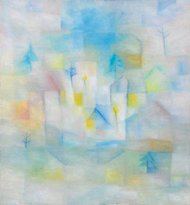 Zum Versinken neigender Nebel, 65 x60 cm, Öl auf Leinwand, 2007