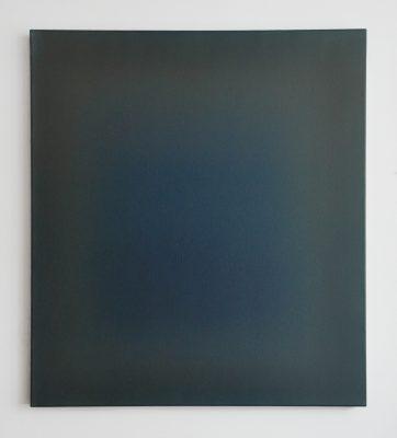 dun and blue, 100 x 90 cm, Öl auf Leinwand, VI-2018