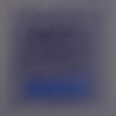 plum, grey and blue, 50 x 50 cm, Öl auf Leinwand, 2016