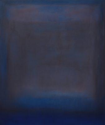 plum and blue, Öl auf Leinwand, 120 x 100 cm, 2011