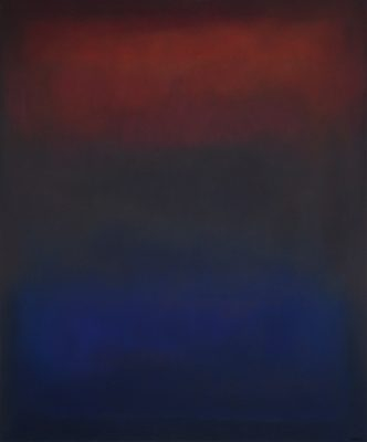 red and blue, Öl auf Leinwand, 120 x 100 cm, 2011