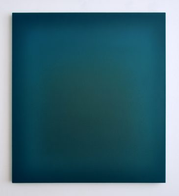blue, green and brown, 100 x 90 cm, Öl auf Leinwand, III-2018