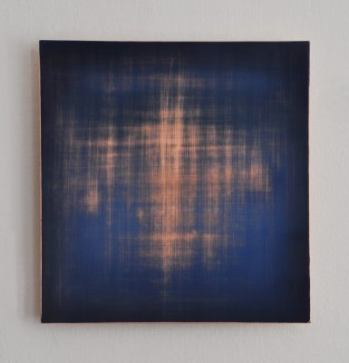 Vanishing No3, 30 x 28,8 cm, Öl auf Kupfer, 2018