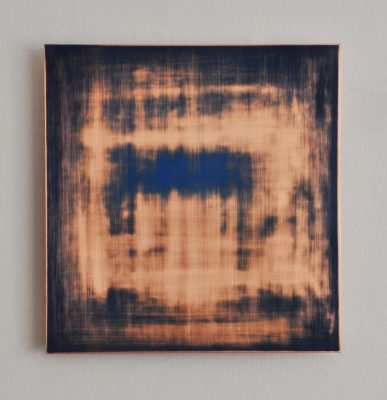 Vanishing No4, 30 x 28,8 cm, Öl auf Kupfer, 2018