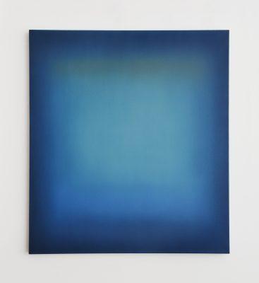 blue and siena, 100 x 90 cm, Öl auf Leinwand, I-2019
