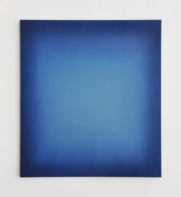 bright blues, 100 x 90 cm, Öl auf Leinwand, I-2019