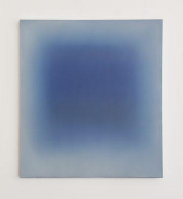 middle deep blues, 100 x 90 cm, Öl auf Leinwand, I-2019