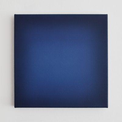 blue square, 40 x 40 cm, Öl auf Leinwand, XI-2018
