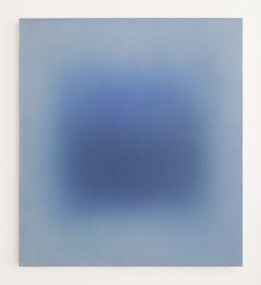 dark and bright blue, 100 x 90 cm, Öl auf Leinwand, IV-2019