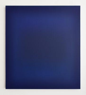 dark blues, 100 x 90 cm, Öl auf Leinwand, III-2019