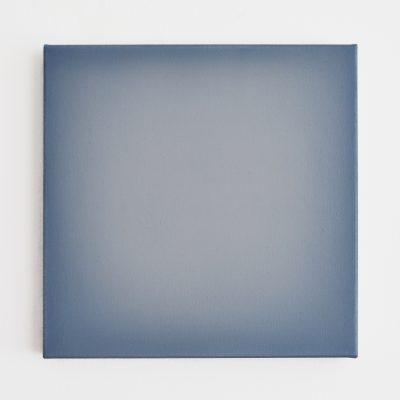middle bright blue, 40 x 40 cm, Öl auf Leinwand, II-2019