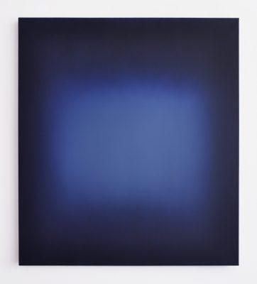 middle deep bright blue, 100 x 90 cm, Öl auf Leinwand, IV-2019