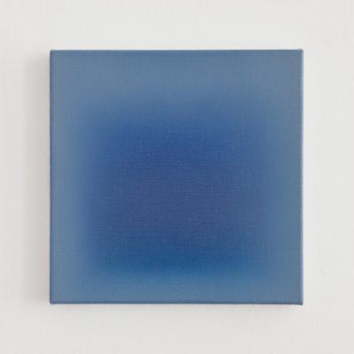 deep and bright blue, 30 x 30 cm, Öl auf Leinwand, VI-2018