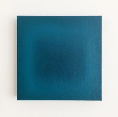 petrol and blue, 30 x 30 cm, Öl auf Leinwand, VI-2019