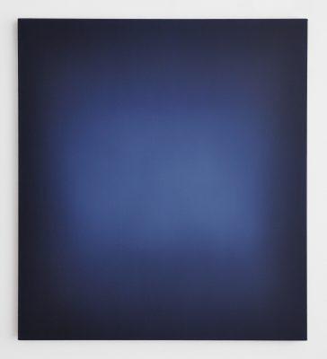 middle deep bright blue, 100 x 90 cm, Öl auf Leinwand, V-2019