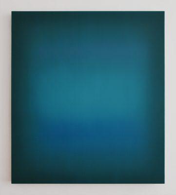 green and blue, 90 x 80 cm, Öl auf Leinwand, II-2019