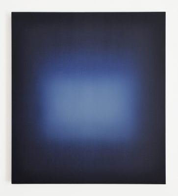 blue and white, 90 x 80 cm, Öl auf Leinwand, VIII-2019