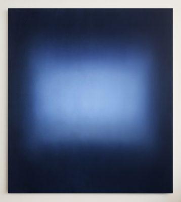 middle bright blues, 180 x 160 cm, Öl auf Leinwand, V-2019