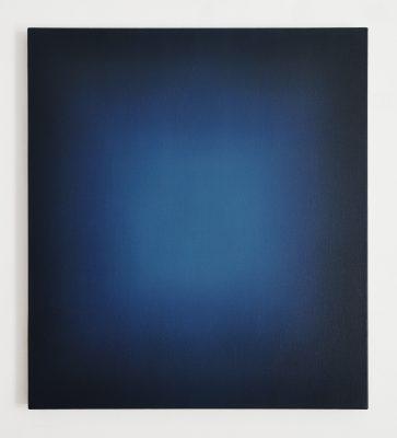 middle bright blues 90 x 80 cm, Öl auf Leinwand, VIII-2019
