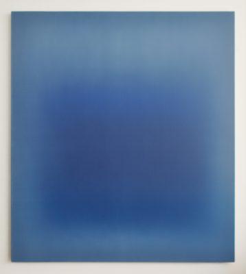 middle dark blues, 180 x 160 cm, Öl auf Leinwand, V-2019